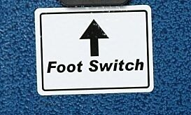 Label, Foot Switch